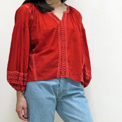 (lady's) Hunch/ハンチ コットンボイル刺繍ブラウス (Lshi008)