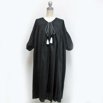 (lady's) ボリュームスリーブワンピース black (Lop011)