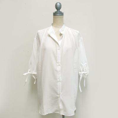 (lady's) パフスリーブチュニックブラウス white (Lshi010)
