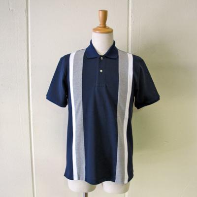 (men's) インドコットン半袖ポロシャツ navy (mct022)