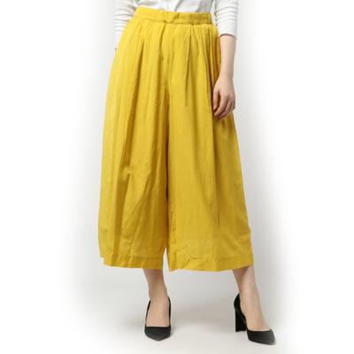 (lady's) スシボイル無地スカンツ yellow (Lbt011)