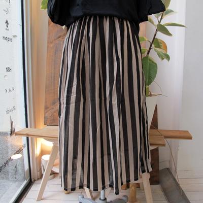 (lady's) nougatine コットンボイルストライプスカート (Lbt012)