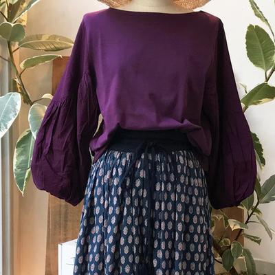 (lady's) Hunch / ハンチ バルーン袖プルオーバー purple (Lct011)