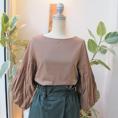 (lady's) Hunch / ハンチ バルーン袖プルオーバー beige (Lct012)