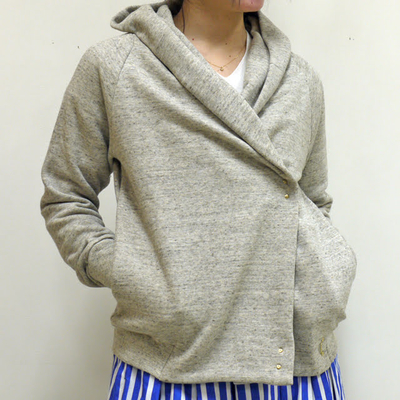 (lady's) mjuka/ミューカ フーデッドホックパーカ graige (Lct013)