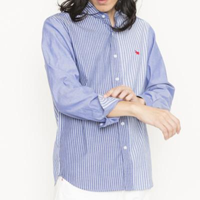 (men's) s&nd/セカンド クレイジーパターンシャツ (mshi005)