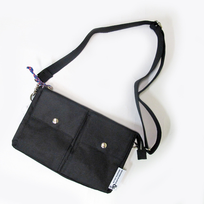 (men's) s&nd/セカンド button pocket sacoche black (mkom005)