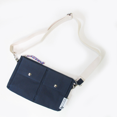 (men's) s&nd/セカンド button pocket sacoche navy (mkom006)