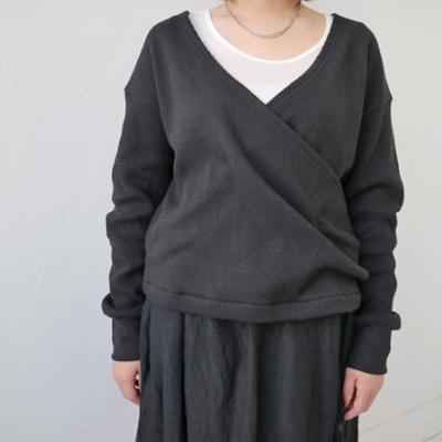 (lady's) doux bleu / ドゥブルー サーマルカシュクールプルオーバー black (Lct014)