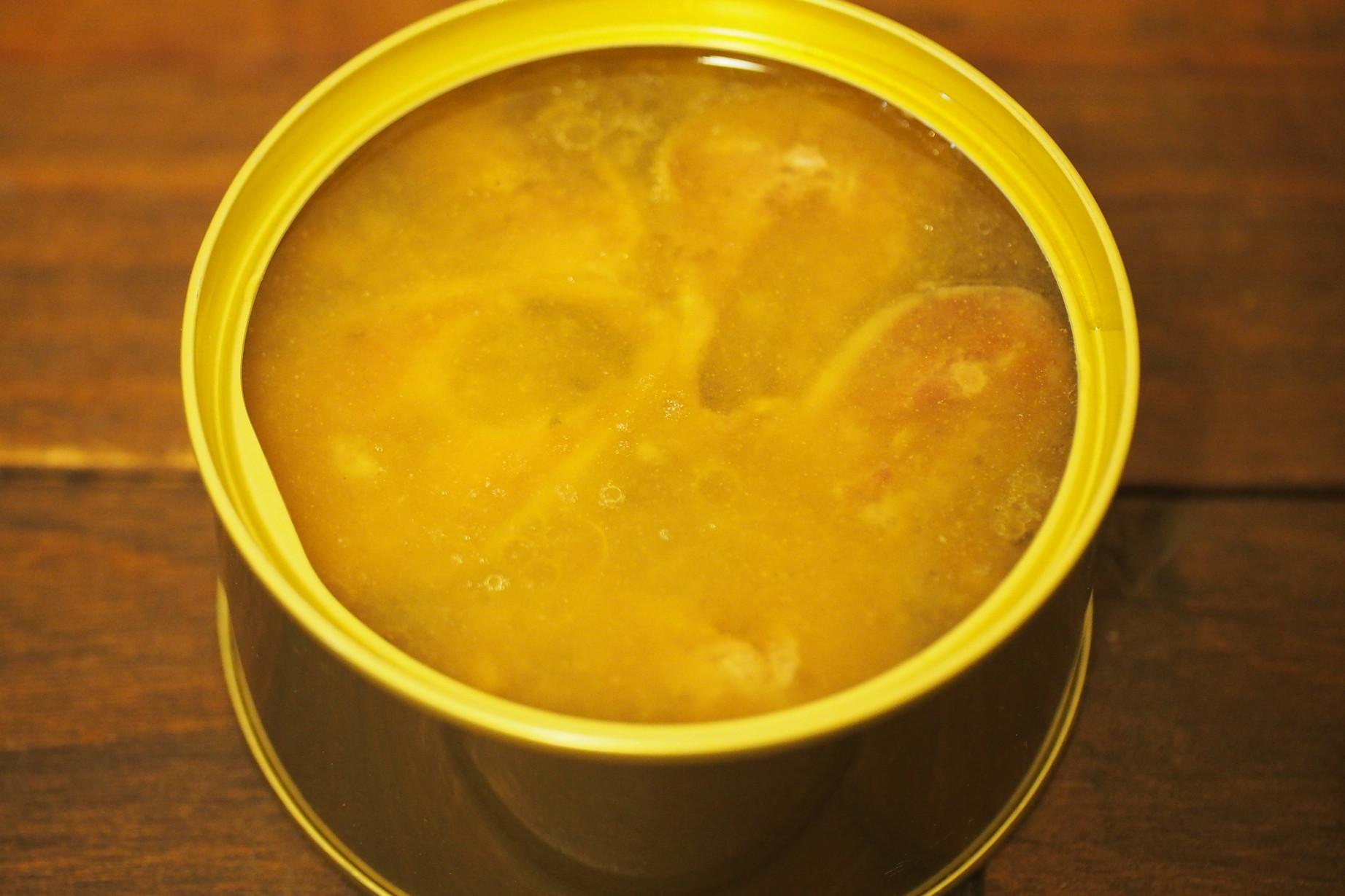 丸水札幌中央水産 脂のりが自慢のいわし水煮 開封
