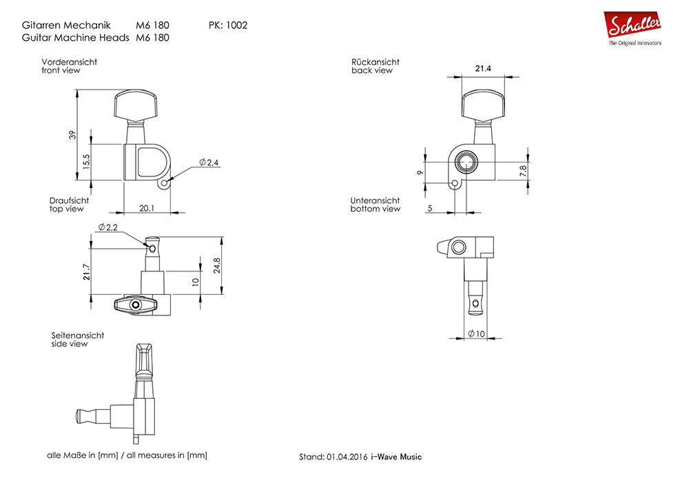 Schaller M6 180 図面