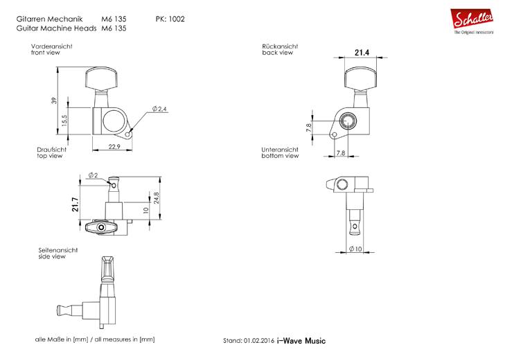 Schaller M6 135図面