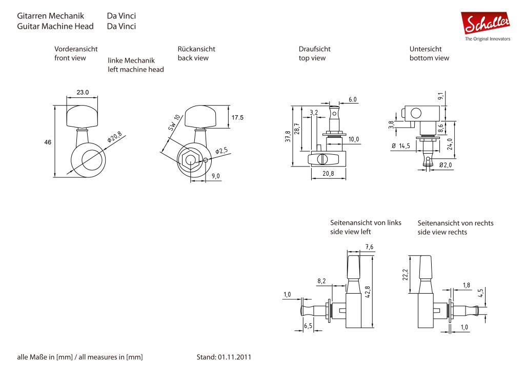 Schaller DaVinci M6図面