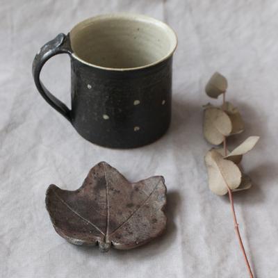 葉っぱ 小皿 木の葉 焼締 丹波焼 箸置き