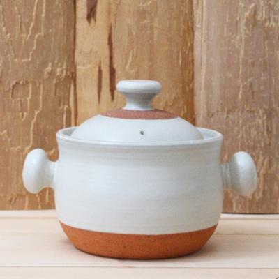 ごはん鍋 白 耐熱土鍋  白2-3合炊き 廣川純