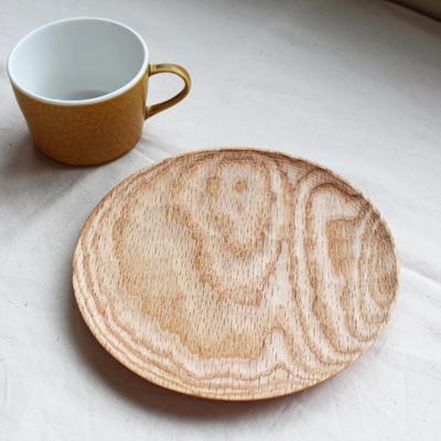 木製パン皿 18cm 木皿 丸 木製食器 日本製 甲斐幸太郎