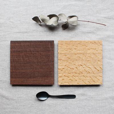 木製食器 コースタートレイ スクエア オイル仕上げ 甲斐幸太郎 木の器