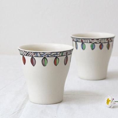 葉っぱゴブレット カップ 湯飲み 廣川みのり 陶器