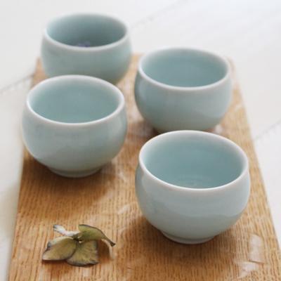 青磁 ぐい呑み シンプル 涼やか 酒器