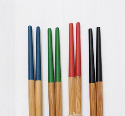 塗り分け竹箸 孟宗竹 23.5cm