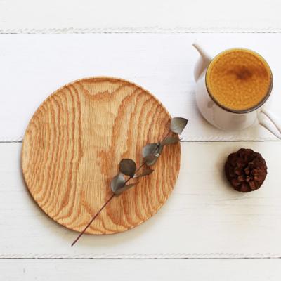 木の器 パン皿 丸皿 21cm 日本製 甲斐幸太郎