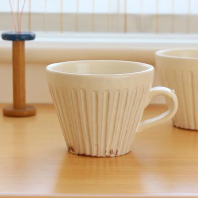 粉引マグカップ 白 陶器