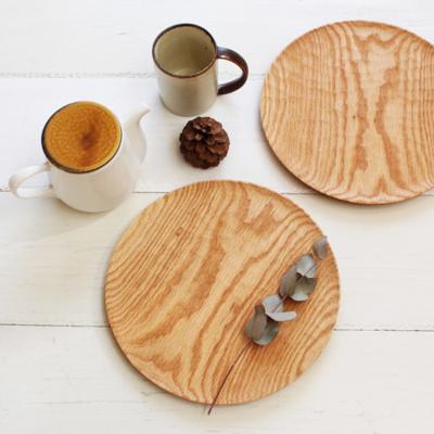 木の器 木製プレート 24cm パン皿 甲斐幸太郎