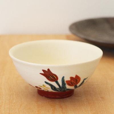 チューリップお茶碗 野花 廣川みのり