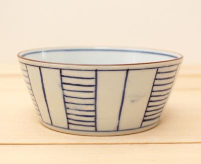 小鉢 はしご ストライプ 京都染付
