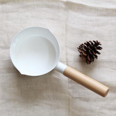 ホーロー鍋 ミルクパン 日本製 シンプル 片手鍋 IH対応【プレゼントキャンペーン中!】