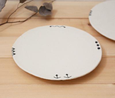 廣川みのり 丸皿 プレート フラット 21cm 大皿