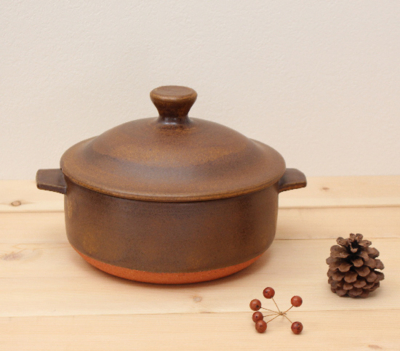 ココット鍋  耐熱土鍋 茶 土鍋 3−4人用