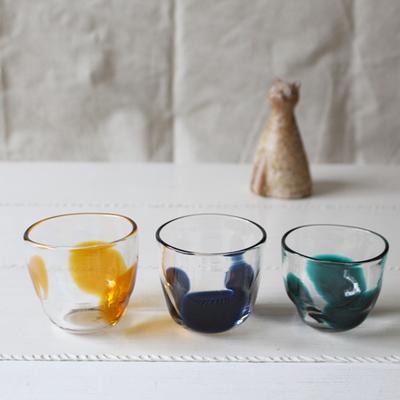 3dot glass コップ 吹きガラス 手びねり hono工房