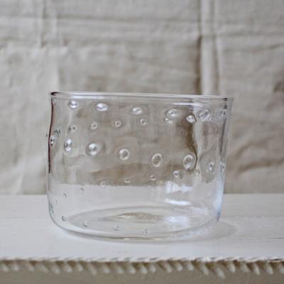 気泡ボウル ガラス 吹きガラス φ13cm hono工房