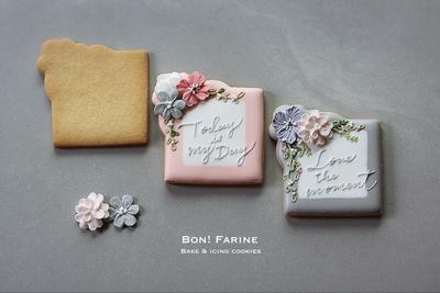 【Bon!Farine  original】フラワーフレーム(小) クッキーカッター(00354)