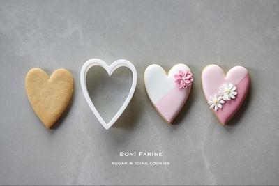 【Bon!Farine  original】ハート クッキーカッター(00354)