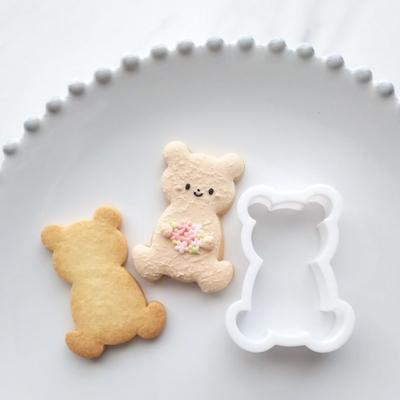 【ayari】おすわりくま クッキーカッター(00308)