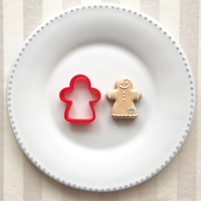 ジンジャーマン(女の子)のクッキーカッター(0071)