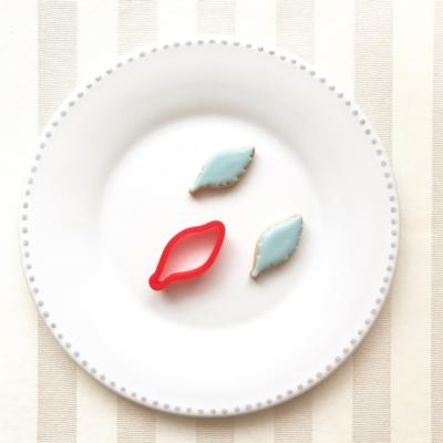 葉っぱ(1枚)のクッキーカッター(0097)
