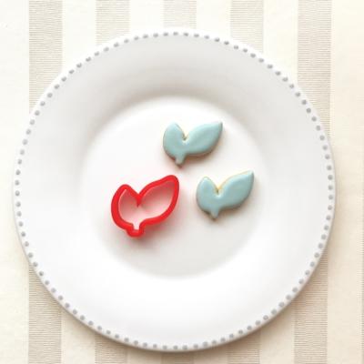 葉っぱ(2枚)のクッキーカッター(0098)