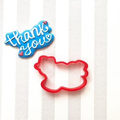 thank you(ありがとう)のクッキーカッター(00115)
