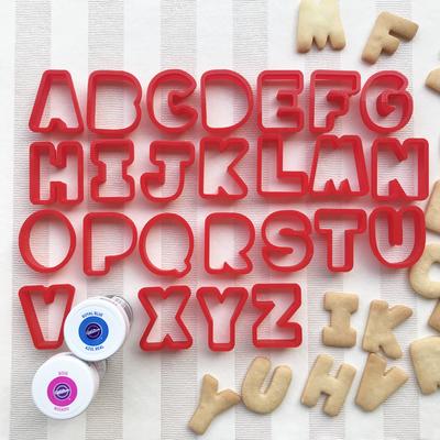 ミニアルファベットのクッキー型(25文字セット)(00118)