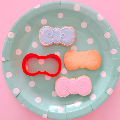 リボンのクッキーカッター(00123)