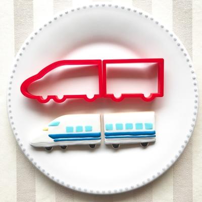 新幹線のクッキーカッターセット(2両)