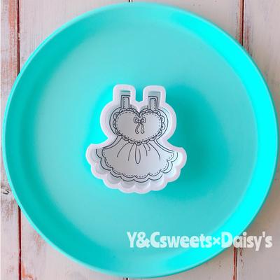 【Y&Csweets original】フリルドレスのクッキーカッター
