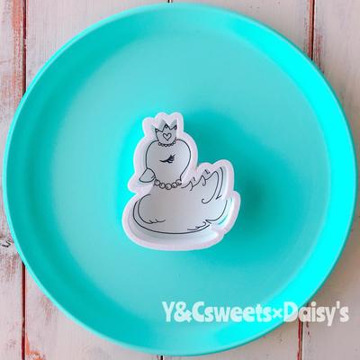 【Y&Csweets original】スワン王冠のクッキーカッター