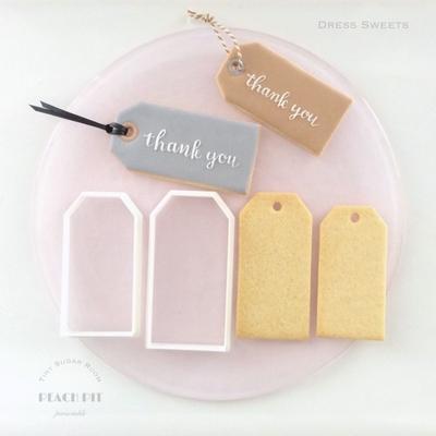 タグ小(9cm)のクッキーカッター(00182)