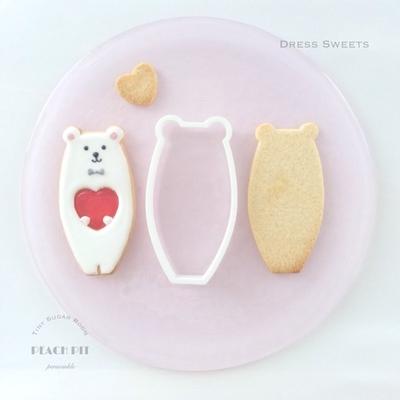 くま(11cm) クッキーカッター(00189)