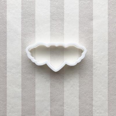 羽付きハートのクッキーカッター(00201)