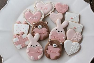 ウサギとハートのクッキーカッターセット(00217)